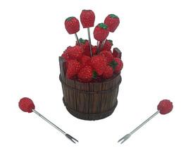 Strawberry Polyresin Dining Picks For Elegant Food Decoration Gift Set o... - $163,33 MXN