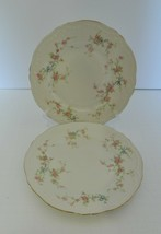 """Theodore Haviland New York Juliet Luncheon Salad Plates Pink Roses 7 1/2"""" Two - $21.66"""