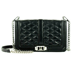 Rebecca Minkoff Love Quilted Leather Crossbody Bag - Black ( Retail - $295) - $98.01