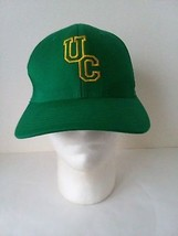 UC Baseball Hat Cap Green Gold Fitted S/M Flexfit - $13.36