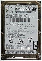 """MHT2040AT FUJITSU 40GB IDE 44pin 2.5"""" 9.5mm hard drive"""