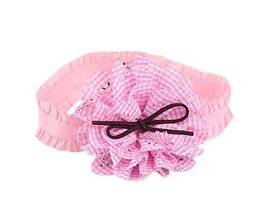 Creative Pink Plaid Daisy Girl Headdress Lace Headband Baby Accessories