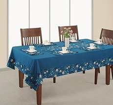ShalinIndia Blue and White Floral design Table Linen Set with 60 Inch Sq... - $39.79