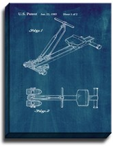 Rowing Machine Patent Print Midnight Blue on Canvas - $39.95+