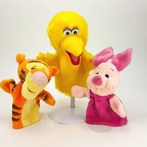 Disney Tigger & Pooh Sesame Street Big Bird Plush Stuffed Hand Puppet Pl... - $17.24