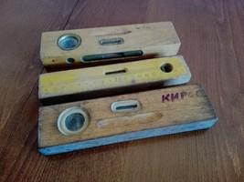 3 Vintage wooden levels - $30.00
