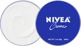 6 Can of 30 mL/ 1 oz NIVEA CREAM Skin Hand CREME moisturizer Metal Tin T... - $10.63