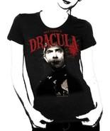 Universal Monsters Bela Lugosi Is Dracula Black Baby Doll T-Shirt, NEW U... - $14.50