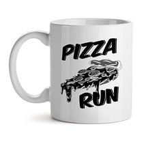 Pizza Run - Mad Over Mugs - Inspirational Unique Popular Office Tea Coffee Mug G - $20.53