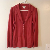 Hannah Mauve Colored Button Up Cardigan Sz LG