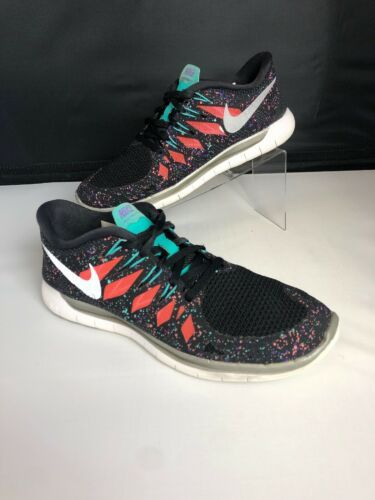 NIKE FREE 5.0 Running Gym Fitness Shoes Black Hyper Jade Galaxy Womens Size 8.5 image 4