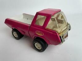 """Vintage Tonka Pink Truck Toy Pickup 1970's Pressed Steel 8.5"""" - $17.86"""