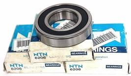 LOT OF 3 NIB NTN 6208LLBC3/5C SINGLE ROW DEEP GROOVE BALL BEARINGS 6208