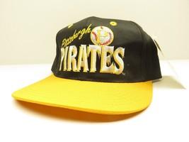 Pittsburgh Pirates Mlb Black & Yellow Baseball Snap Back Hat Nos w/ Tags - $39.55