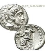 ALEXANDER the Great Lifetime Ancient Greek Silver Coin. Demeter AU Herak... - $656.10