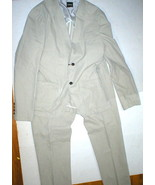 New Mens 52 NWT Designer CNC Suit Beige Tan Cotton 42 Jacket 36 Pants Bl... - $779.60
