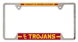 USC Trojans Heavy Duty Chrome Metal License Plate Frame - $13.95