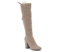 Kenneth Cole Women Knee High Block Heel Boots Corie Lace Concrete Grey - $59.94
