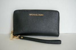NWT Michael Kors Jet Set Travel Large Phone Case Wristlet Saffiano Leath... - $58.29