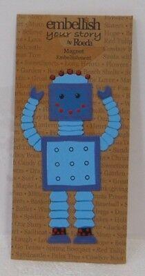 Demdaco 17470 Blue Robot Magnet Embellish Your Story Roeda