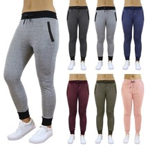 Womens Jogger Sweatpants French Terry Slim Fit Pockets Lounge Gym Everyd... - $13.03