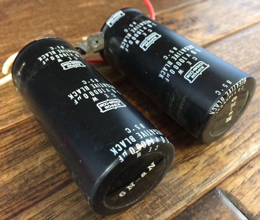 Marantz Nippon Chem Capacitors 50v 10000 uF 85°C 6N-aN No Damage 2252 Receiver