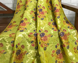 10%OFF Indian Silk Brocade Fabric Green& Gold Fabric, fabric by the yard NFAF215 - £27.16 GBP