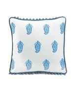Square Pillow, Tasseled Blue Decorative Modern Fancy Throw Pillows For Sofa - $26.09
