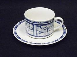 Oneida Breton Blue Cup & Saucer New! - $12.86