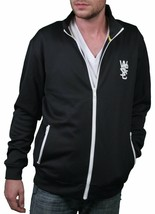 WeSC Mens Black White Rainer Zip Up Warm-Up Track Jacket NWT