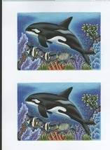 whale orcha decoupage sheet high quality print on 120gsm paper ideal cards,
