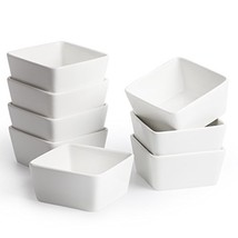 BTäT - Ramekins 8 oz - Set of 8 Square, Porcelain Ramekins, Ramekins for... - $20.98