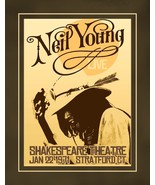 Vintage Neil Young Music Concert Poster, 1971 Rock & Roll Wall Art Gift - $19.99+
