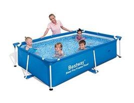 Bestway Rectangular 94in x 59in x 23in Splash Frame Kids Swimming Pool |... - $162.16