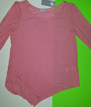 NEW Splendid  Pullover Top Shirt Red Striped Size Small VERY SOFT $98 NWT - $29.67
