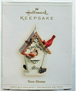 Hallmark keepsake ornament new home 2006 birdhouse cardinals holly qxg3003 - $17.99