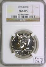 1998-D Kennedy Half Dollar NGC MS-65 PL; Scarce PL! - $178.18