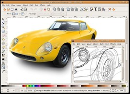 Inkscape (Professional Drawing Software) for Windows and Mac on a USB - $12.95