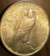 1923 UNITED STATES SILVER PEACE DOLLAR COIN - Uncirculated - $41.51