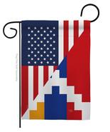 Republic of Artsakh US Friendship - Impressions Decorative Garden Flag G... - $19.97