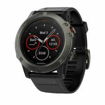 New Garmin 010-01733-00 Fenix 5x Sapphire Slate Gray 51mm Smart Watch - $484.11