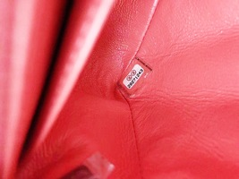AUTHENTIC CHANEL CORAL PINK VELVET LARGE MINI RECTANGULAR FLAP BAG BLACK HW image 8