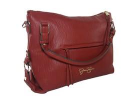 Jessica Simpson Logo Purse Hand Bag Crossbody Shoulder Satchel Hobo Red Gold NWT - $94.04