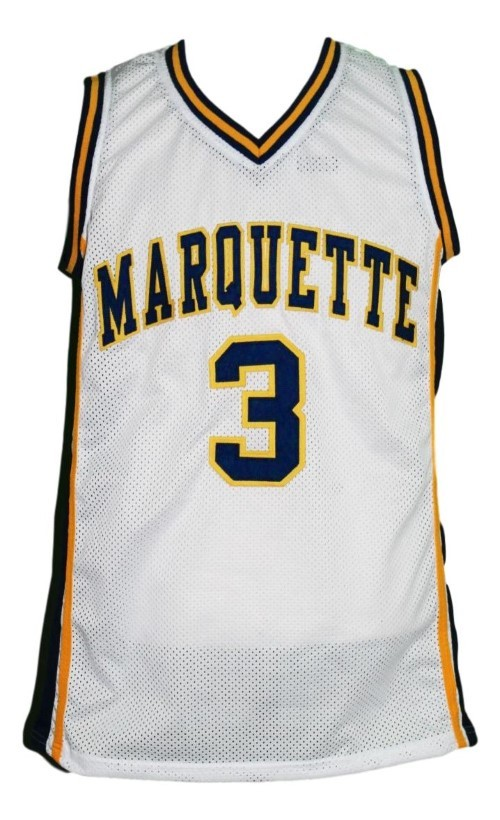 Dwyane Wade #3 College Basketball Jersey Sewn White Any Size