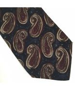 Calvin Klein Blue Red Tan paisley print silk men's business Tie - $21.95