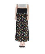 Women's Dragonfly Print Summer Stretchy Boho Full Length Maxi Skirt Size... - $28.99+