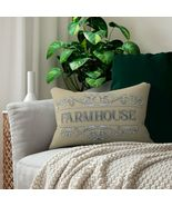 New Farmhouse Decorative Accent Lumbar Pillow in Spun-Polyester with Insert - $29.99