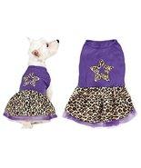 xSmall Purple Leopard Print Spring Dog Dress Star Design Tule Skirt - CL... - $14.44