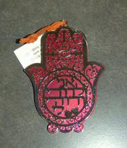 Judaica Kabbalah Ani Ledodi Blessing Hamsa Hebrew Red Silver Plated Wall Hang image 2
