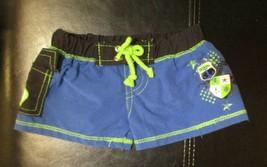 Build A Bear Workshop Blue Green & Black Swim Trunks - $9.89